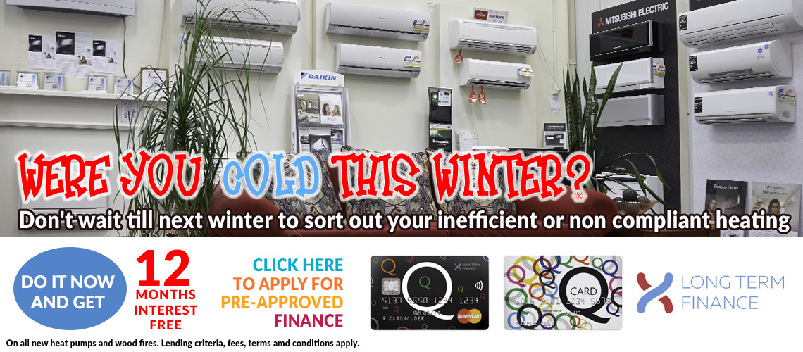 North Canterbury Energy 12 months interest free on heat pumps and wood fires
